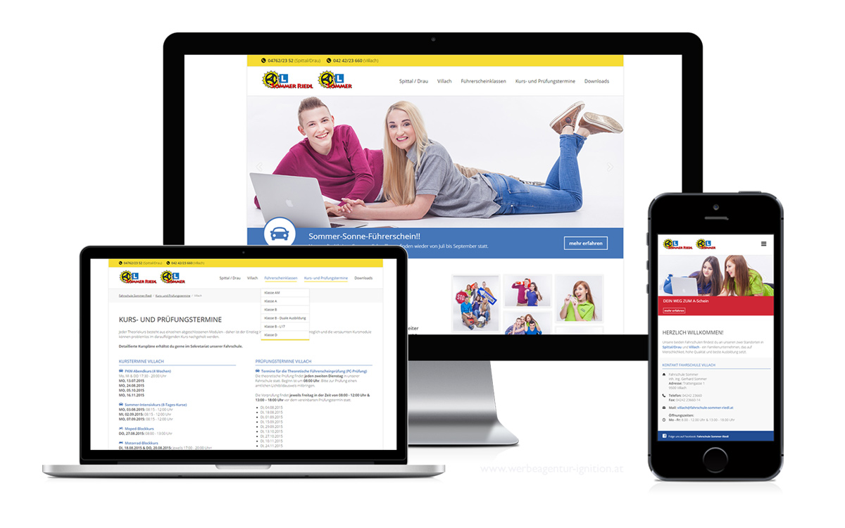 Website FS Sommer-Riedl